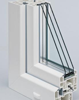 Пластиковая дверь с дверным профилем